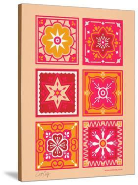 Talavera Mexican Tile Hot Pink by Cat Coquillette