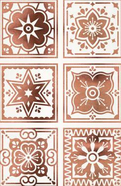 Talavera Mexican Tile Rose Gold by Cat Coquillette