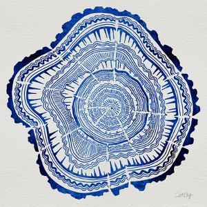 Tree Rings in Navy by Cat Coquillette
