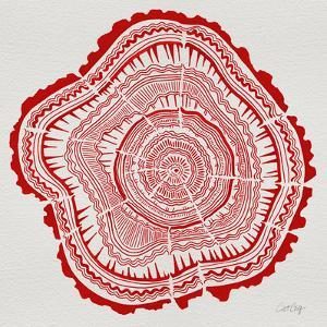 Tree Rings in Red by Cat Coquillette