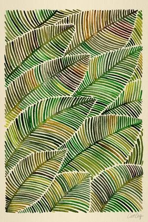 Tropical Leaves in Yellow and Green