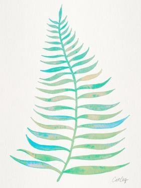Turquoise Palm Leaf by Cat Coquillette