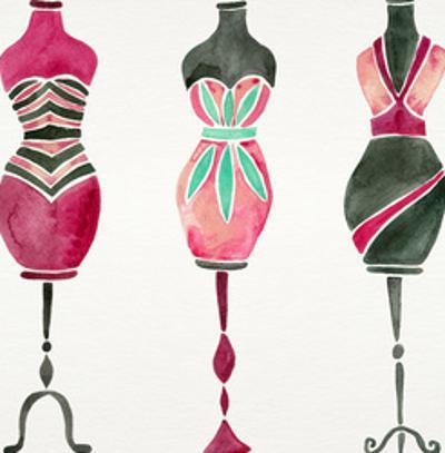 Vintage Dress Forms Pink by Cat Coquillette