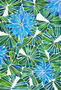 Water Lilies Blue Green by Cat Coquillette