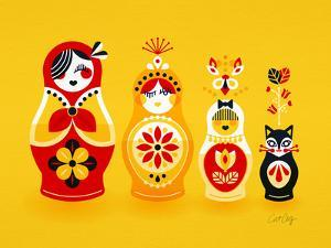Yellow Russian Dolls by Cat Coquillette