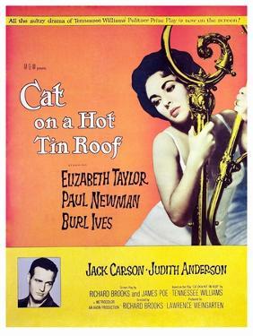 Cat on a Hot Tin Roof, Elizabeth Taylor, Paul Newman, 1958