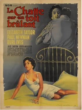 Cat on a Hot Tin Roof, French Movie Poster, 1958