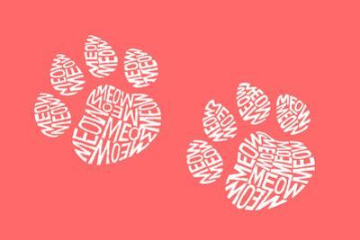 Cat Paw Prints - Meow