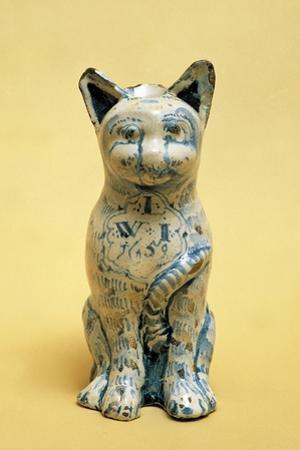 Cat-Shaped Decorated Mug