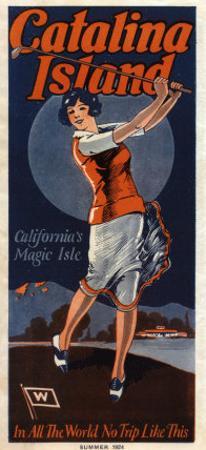 Catalina, Golfer, 1924
