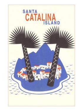 Catalina Island with Big Palm Trees