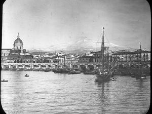 Catania and Mount Etna, Sicily, Italy, Late 19th or Early 20th Century