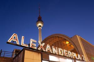 Berlin, Alexanderplatz Square, Stroke and Television Tower, Evening by Catharina Lux