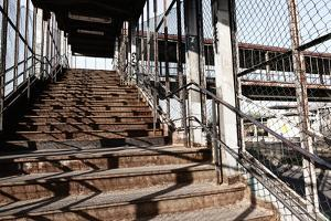 Berlin-Marzahn, City Railroad Station, Stairs by Catharina Lux