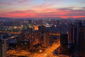 China, Hangzhou, Cityscape, Evening Mood by Catharina Lux