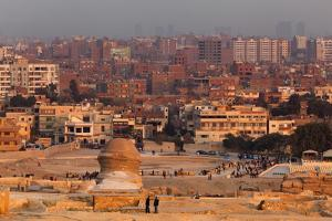 Egypt, Cairo, Giza, Sphinx from the Back, Evening Light by Catharina Lux