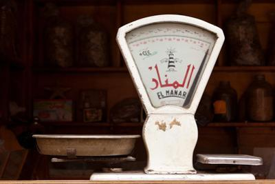 Egypt, Cairo, Islamic Old Town, Shop, Scales by Catharina Lux