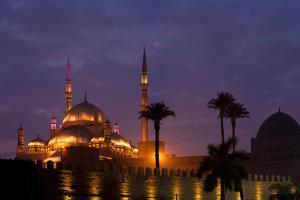 Egypt, Cairo, Landmark, Citadel with Mohamad Ali Mosque, Dusk by Catharina Lux