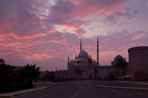 Egypt, Cairo, Landmark, Citadel with Mosque of Muhammad Ali, Dusk by Catharina Lux