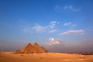 Egypt, Cairo, Pyramids of Giza, Evening Light by Catharina Lux