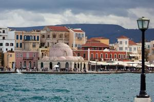 Greece, Crete, Chania, Venetian Harbour, Mosque by Catharina Lux