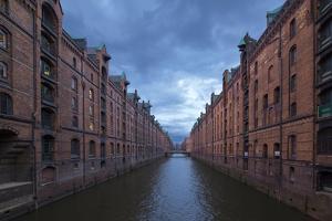 Hamburg, Speicherstadt, Brooksfleet, Evening Mood by Catharina Lux
