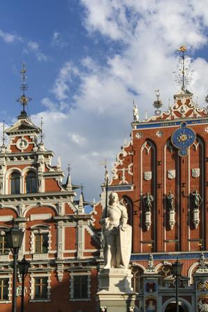 Latvia, Hanseatic Town Riga, House of the Blackheads, Saint Roland