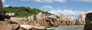 The Seychelles, La Digue, Beach, Rocks, Anse Marron, Panorama by Catharina Lux
