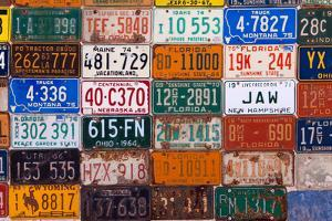 USA, Arizona, Route 66, Collection of License Plates by Catharina Lux