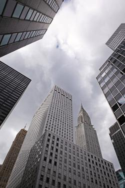 USA, New York City, Manhattan, Junction, Skyscrapers, Chrysler Building, View Upwards by Catharina Lux