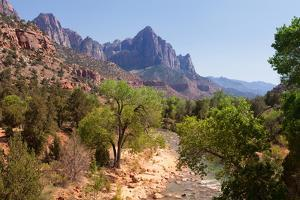USA, Utah, Zion National Park, Virgin River, the Watchman by Catharina Lux