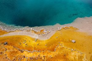 USA, Yellowstone National Park, West Thumb Geyser Basin, Black Pool by Catharina Lux