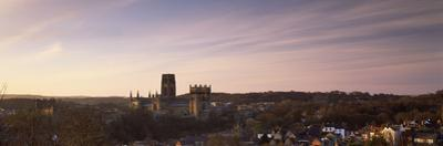 Cathedral in a City at Dusk, Durham Cathedral, Durham, England