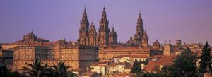 Cathedral in a City, Santiago De Compostela, La Coruna, Galicia, Spain