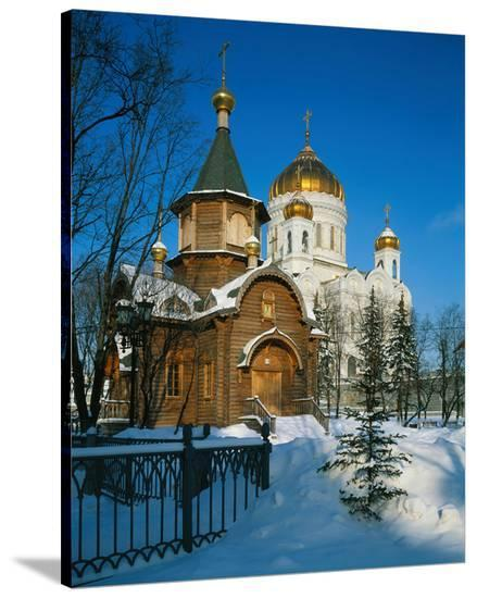 Cathedral of Christ the Saviour, Moscow, Russia--Stretched Canvas Print