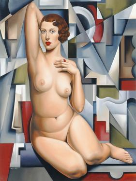 Seated Cubist Nude by Catherine Abel