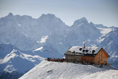 Cabane Du Mt Fort, Verbier, Valais, Switzerland by Catherine Ames
