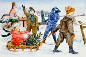 Children Playing in the Snow by Catherine Bradbury