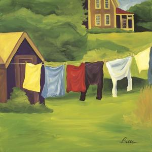 Laundry Monhegan by Catherine Breer