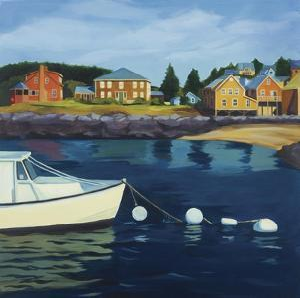Monhegan Harbor by Catherine Breer