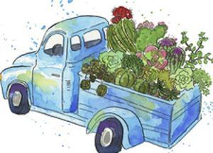 Flower Truck I by Catherine McGuire