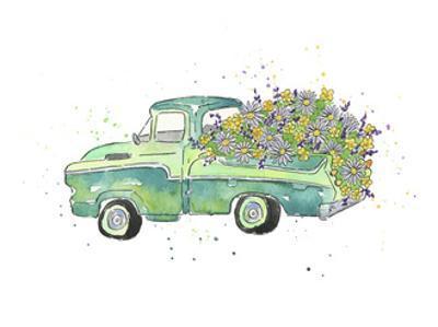 Flower Truck II by Catherine McGuire