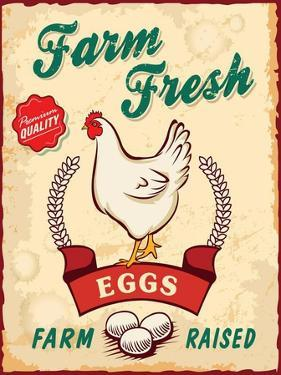 Retro Fresh Eggs Poster Design by Catherinecml