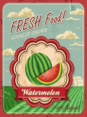 Retro Fresh Food Poster Design by Catherinecml