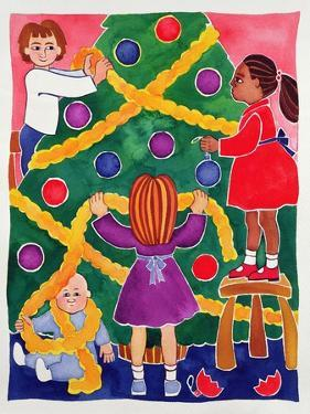 Decorating the Christmas Tree by Cathy Baxter