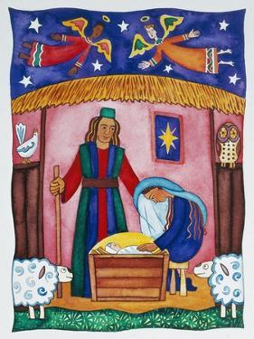 Nativity with Angels by Cathy Baxter