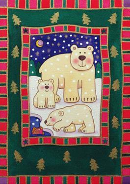 Polar Bear and Cubs by Cathy Baxter