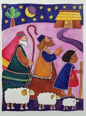 The Shepherds Journey to Bethlehem by Cathy Baxter
