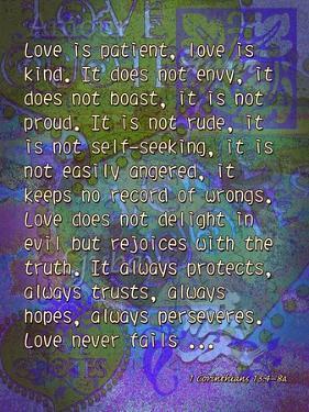 1 Corinthians 13:4-8A by Cathy Cute