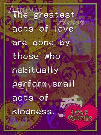 The Greatest Acts of Love by Cathy Cute
